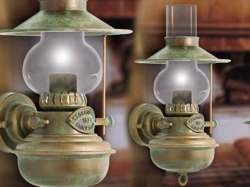 Moretti luce lampada da parete guadalupa 1615.ar