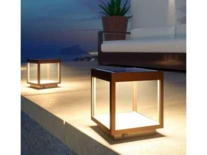 lampada solare visor corten
