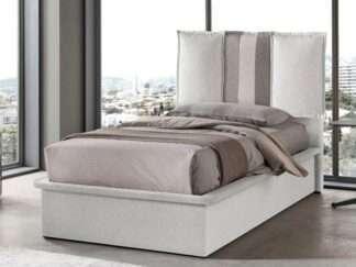 letto contenitore singolo bianco ghiaccio