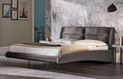 letto stromboli king size tessuto ghiaccio