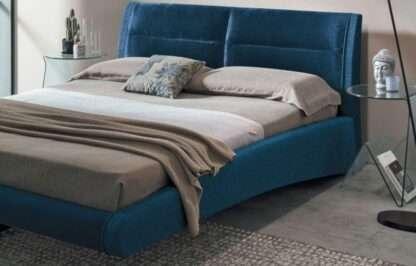 letto stromboli king size tessuto blu