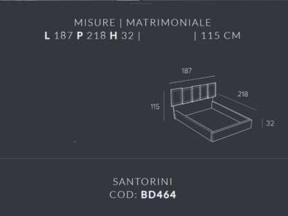 misure letto contenitore santorini