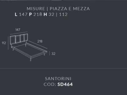 scheda letto santorini piazza e mezza