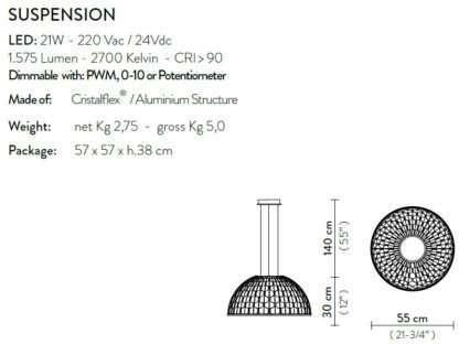 scheda tecnica sospensione dome