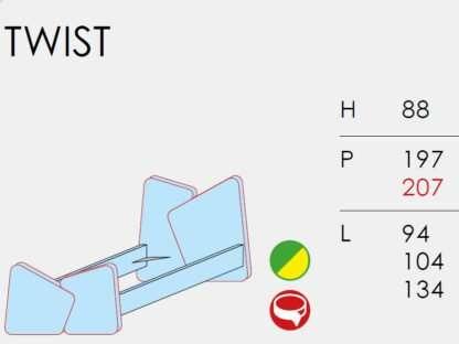 scheda tecnica letto twist