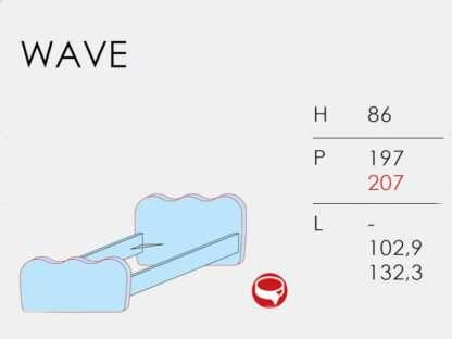 scheda tecnica letto wave